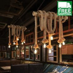 Rope Light Chandelier