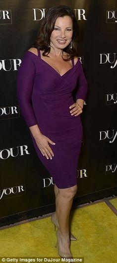 fran drescher + purple dress