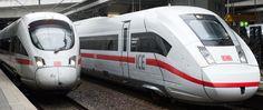 Bahnhof  Berlin-Suedkreuz links ICE3 rechts ICE4