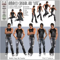 Different Poses For Models   Male and female animation override   AMACCI