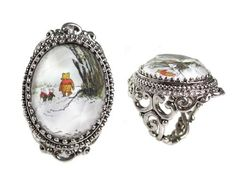 Amazon.com: Disney Couture Winnie The Pooh and Piglet Cameo Ring - Size 6: Jewelry...  i want  :]