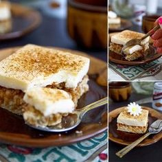 Fitness jablečný kremšnit - zdravý recept Bajola Healthy Sweets, Healthy Baking, Healthy Recipes, Sweet And Salty, Cake Recipes, Sweet Tooth, Deserts, Good Food, Food And Drink