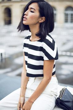 Stripe crop top