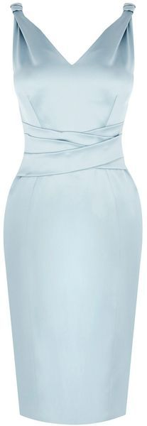Karen Millen Blue Bow Back Mamma Mia Dress