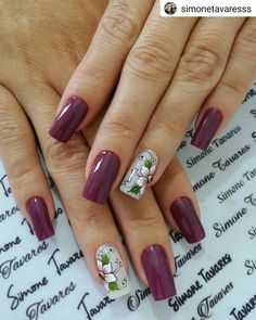 #Repost @simonetavaresss Lindas!!!!😍😍 Esmalt Nails & Co, Toe Nails, Hair And Nails, Punk Nails, Floral Nail Art, Nail Jewelry, Flower Nails, Stylish Nails, Beauty Nails