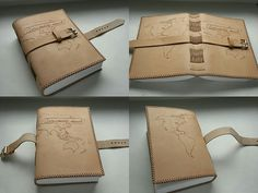 originálny kožený zápisník / handmade / leather / bookbinding / ručne viazaný / travel book / map / pyrography / Naše diela - fotogaléria
