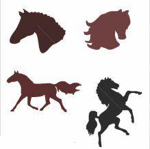 plantilla de conjunto - Juego de caballos