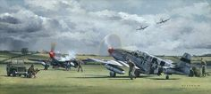 P-51s Mission from Debden by Wade Meyers