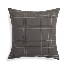 "Heath Grey 20"" Pillow    Crate and Barrel"