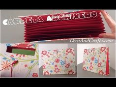 Carpeta Archivero de cartón - DecoAndCrafts - YouTube