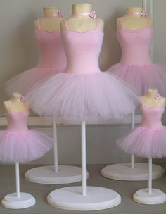 Pink Ballerina Tutu Party Planning, Ideas & Supplies >> Birthday Ballerina Centerpiece