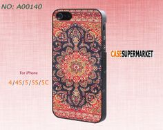 Phone Cases, iPhone 5/5S Case,  iPhone 5C Case, iPhone 4/4S Case, Phone covers, Vivid Indian Floral, Skins, Case for iPhone-A00140