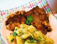 Azok a régi jó dolgok: Lacipecsenye petrezselymes újkrumplival   Mediterrán ételek és egyéb finomságok...