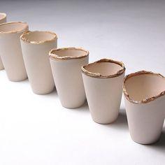 FOR SALE; www.etsy.com/uk/shop/SadieReynoldsCeramic -  #porcelain #tobacco #corrupted #smokingproject #glazed #ceramics #tobaccobasedglaze #boiledtobacco  #smoking #effects #dematerialised #process #cups #series #collection #art #design #designer #artist #maker #conceptual #making #black #ivory #contrast