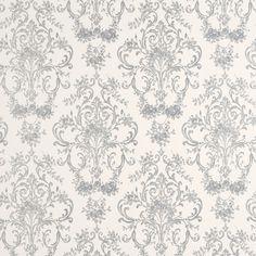 £38.00 - Laura Ashley - Aston Silver Patterned Wallpaper
