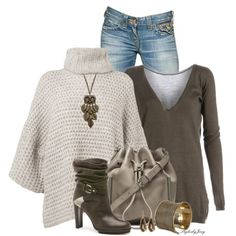 """Poncho-rello"" by stylesbyjoey on Polyvore"