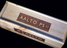 Aalto Winery single bottle slide-top magnum wine crate from Spain