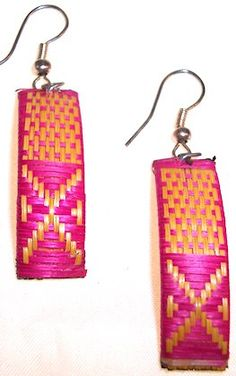 Organic Eco-Friendly Peruvian Dangle Earrings - Fair Trade Certified!    Artisan crafted from exotic eco-friendly nuts, seeds and fish scales native to the remote Amazon rainforest.