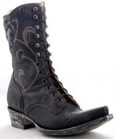 Womens Old Gringo Granny Marsha Boots Black #Bl688-2 via @Allens Boots