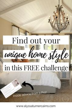 Not sure where to start when you're planning your home design and decor? Wish you had that Pinterest-Perfect home, but totally overwhelmed by too much inspiration? Are you farmhouse chic, mid-century modern, or traditional?   Follow this simple and FREE challenge from an online home designer to define your unique home design style- and start decorating like a pro!