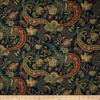 Waverly Rhapsody Jewel, Fabric by the Yard Paisley, Rainbow Library, Waverly Fabric, Mexican Home Decor, Jewel Tone Colors, Drapery Fabric, Curtains, Wall Fabric, Tapestry Fabric