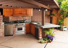 Desain Dapur Diruang Terbuka Outdoor Kitchens Kitchen Cabinets Design