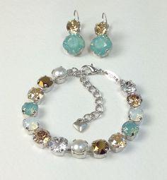 Swarovski Crystal Bracelet & Earrings   by CathieNilsonDesigns, $35.00