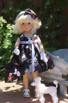 *Paris Poodle* by Ladybug Doll Desigs. Sold for $41.00 on 8/31/13