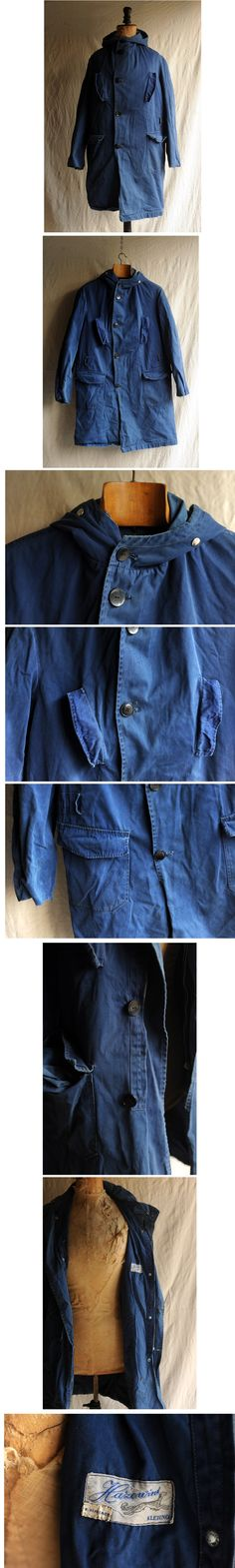 40s50sフランスヴィンテージコットンパーカ 30sワークJKTコート - ヤフオク! Denim Button Up, Button Up Shirts, Fashion Details, Industrial Style, Plaid, Mens Fashion, Trending Outfits, Clothes, Tops