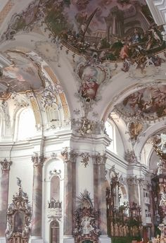 Ottobeuren Abbey, founded rokoko/baroque Architecture Antique, Beautiful Architecture, Beautiful Buildings, Art And Architecture, Beautiful Places, Renaissance Architecture, Renaissance Art, Palaces, Aesthetic Wallpapers
