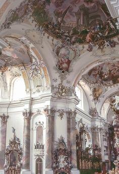 OTTOBEUREN Benedictine Kloster in Ottobeuren Germany - church of the HOLY TRINITY ~ arch : Johann Michael FISCHER (1744-46) sculpt : FEUCHTMAYER