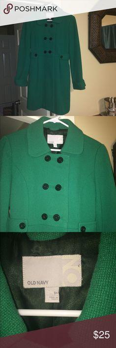 Old Navy Coat Green coat.  Great condition. Old Navy Jackets & Coats Pea Coats