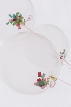 Inspired Idea: put confetti inside clear balloons before blowing them up