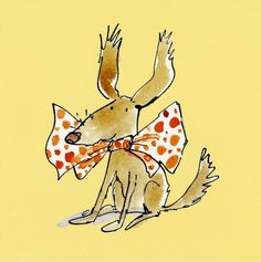 Bow Tie Dog - Quentin Blake - By range - Blank