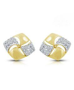 studs with austrian diamonds