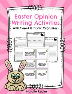 Great editable classroom materials @teachersherpa The Easter Opinion Writing Activities package contains twelve opinion writing prompts and three graphic organizers. Give students the choice of writing prompts or assign all students the same prompts. You decide! After students have their topic, give them the graphic organizer that matches their learning needs. There are three graphic organizers included in this package of materials. After students map out their piece of writing using the…