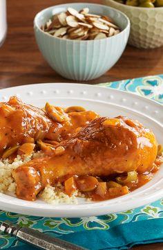 Pollo al Estilo Marroquí en Olla de Cocción Lenta
