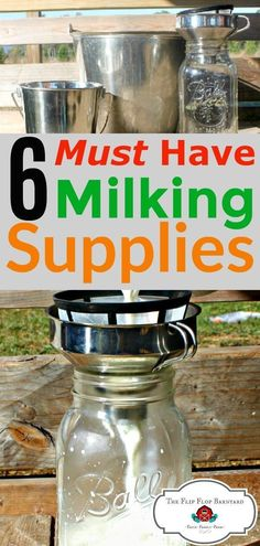 Milking equipment and supplies for the homestead dairy is essential. You'll need all the right milking supplies to milk your goat or cow. via @BarnyardJen