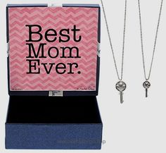 Mother's Day Gifts Best Mom Ever Gift Happy Mother's Day Mother Daughter Bond Forever Mother Daughter Jewelry Silver-Tone Key Pendant 2-piece Necklace Set Jewelry Box Gifts for Mom and Daughter  BUY NOW     $24.99    This beautiful necklace comes with a keepsake message inside the jewelry box. The beautiful blue gift box, made from chipboard and covered in quality textured blue pa ..