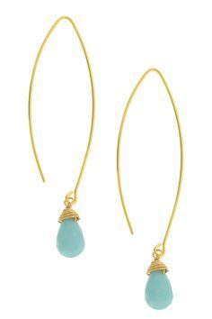 LEILA | Long Wire Glass Dangle Earrings - Gift With Purchase | HauteLook