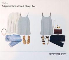 Stitch Fix May 2015 Pixley Kaya Embroidered Strap Top