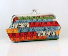 Measuring Tape Clutch. Cute to be stylish in school!