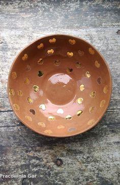 ceramic bowl , art pottery , gold and platinum Ceramic Bowls, Pottery Art, Ceramics, Gold, Handmade, Crafts, Ceramica, Pottery, Hand Made