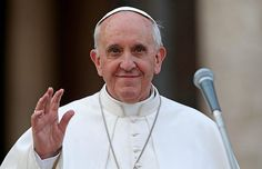 Pope Franciscus. The Pope is the highest authority of the Roman Catholic Church .