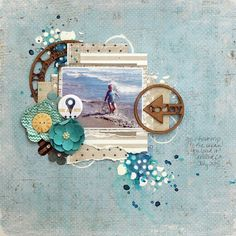 Today: Mixed Media Layout by Kris Berc