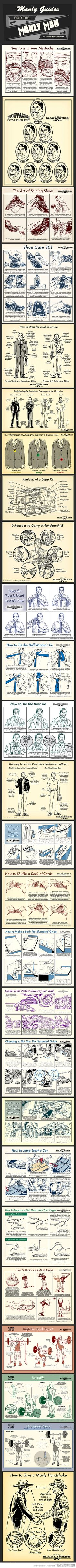 Manly Guides for the Manly Man…