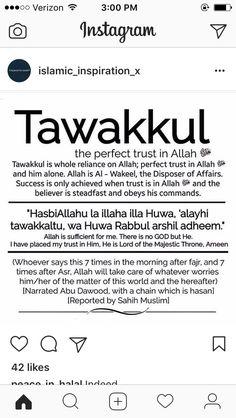 Dua For Tawakkul 💕 Allah Islam, Islam Muslim, Islam Hadith, Muslim Women, Prayer Verses, Quran Verses, Muslim Quotes, Religious Quotes, Quran Quotes Inspirational
