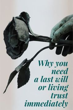 Why you need a last will or living trust immediately - Three reason to create a will and a list of items to include in your estate planning binder.