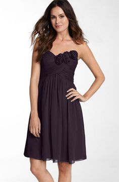 Even better in dark purple. Love! #bridesmaid dress $99.90 at Nordstrom.