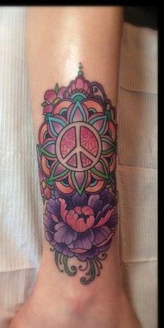 Peace sign tattoo